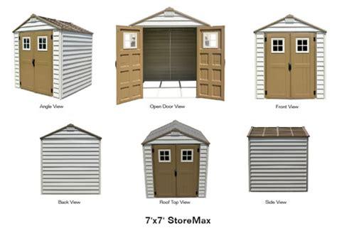 7x7 shed base kit duramax 7x7 storemax vinyl shed w foundation kit 30315