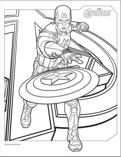 avengers coloring pages captain america color up avengers 2012 coloring pages