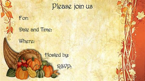 Halloween Potluck Invitation Sample by 9 Best Images Of Free Printable Thanksgiving Invitations