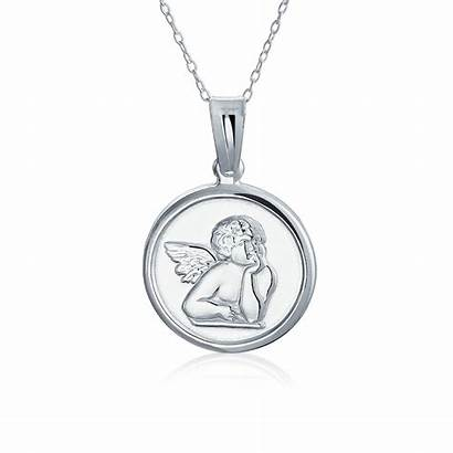 Angel Necklace Pendant Silver Sterling Guardian Protection