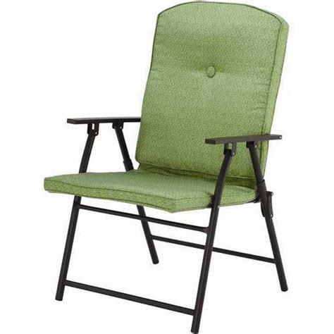 Lawn Chairs At Walmart by Mainstays Outdoor Padded Folding Chairs Set Of 2