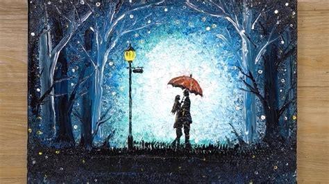 How To Draw A Romantic Couple Under Umbrella Aluminum