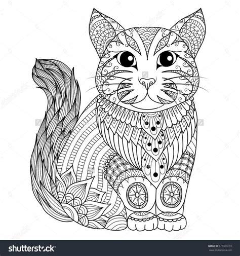 images  adult colouringcatsdogs zentangles  pinterest coloring cats  urban