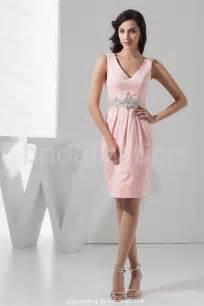 Decent Sheath V-neck Beaded Taffeta Dress