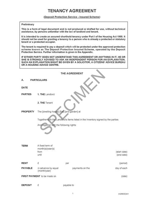 commercial tenancy agreement examples  word