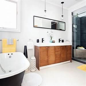 Rénovation Salle De Bain Avant Après : salle de bain rafra chie aux accents r tro salle de bain ~ Dallasstarsshop.com Idées de Décoration