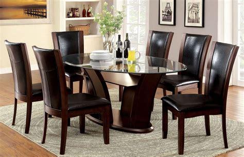 manhattan  dark cherry oval pedestal dining room set