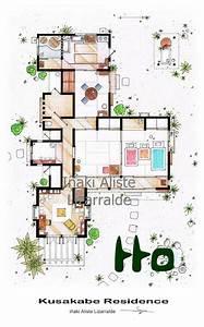 Maison Japonaise Dessin : kusakabe residence from tonari no totoro film h user pinterest dessins de maisons maison ~ Melissatoandfro.com Idées de Décoration