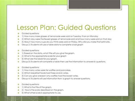 lesson plan for teaching bar charts lesson plan to help teach bar graphs