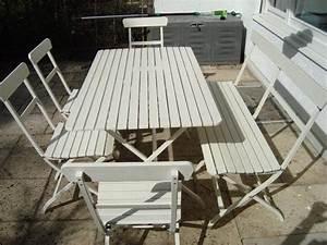Weiße Gartenbank Ikea : gartenm belset ikea serie m lar in m nchen kaufen und verkaufen ber private kleinanzeigen ~ Watch28wear.com Haus und Dekorationen