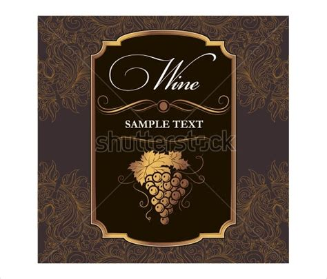 Printable Wine Labels Free Templates by Free Wine Label Template Beepmunk
