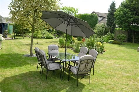 quality black grey padded 6 seater 8 metal garden