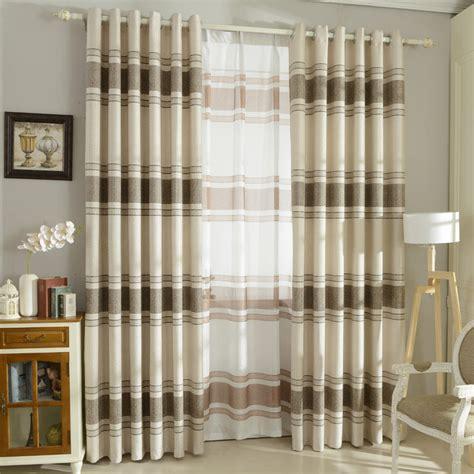 linen cotton curtains horizontal striped curtains