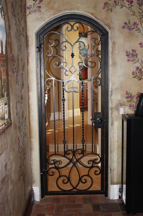 Interior Iron Doors by Forge Iron Designs Wine Cellar Doors