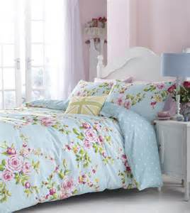 Image of: Duck Egg Pink Blue Floral Spots Reversible Girl Bedding Curtain Ebay Shabby Chic Decorating Ideas That Look Good For Your Bedroom