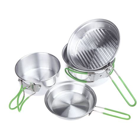 cookware lightweight camping aluminum pot backpacking cooking hiking pan alocs c15 picnic cw 4pcs outdoor super sets