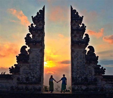 tempat terbaik  bali  keindahan sunset