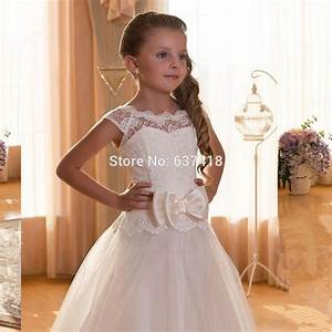 2015 ivory lace flower girl dress for weddings first With girl dresses for wedding