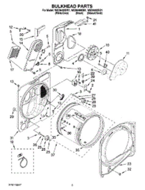 parts for whirlpool wed6400sw1 dryer appliancepartspros