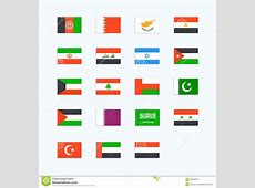 Middle Eastern Country Flags Stock Vector Image 56505372