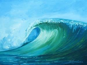 Daina Scarola, Ocean Art Studio: Craving Liquid ~ Curling ...  Wave