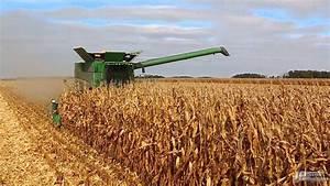 Ohio Harvest 2014: John Deere S680 combine harvesting corn ...