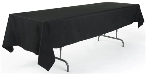 Black Polyester Banquet Tablecloth Rectangular