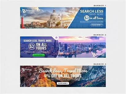 Banner Travel Less Advertisement Dribbble Ad Ads