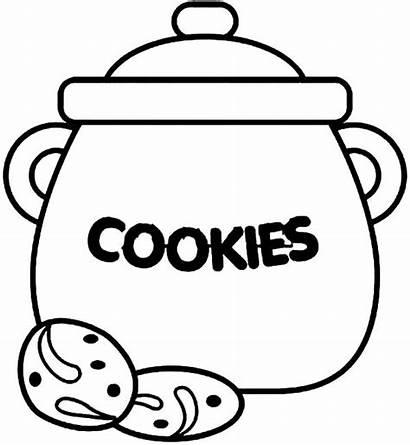 Cookie Jar Coloring Pages Draw Cookies Drawing