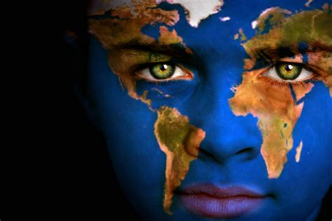 Earth Globe World Map Human Face   Global Trade Review (GTR)