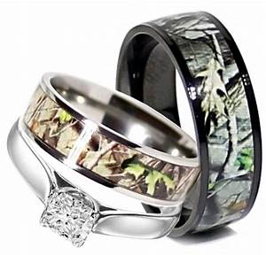 camo wedding ring sets for him and her cherry marry With camo wedding rings for her