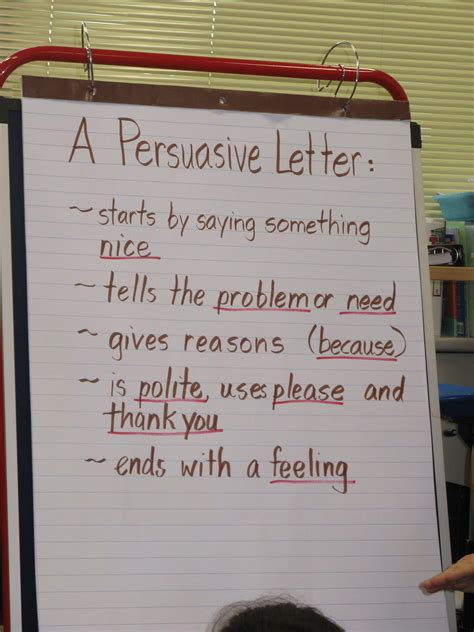 persuasive letters anchor chart grade   writing