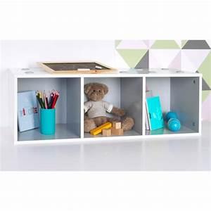 Meuble Rangement Gris : meuble de rangement empilable 3 cubes abc gris ~ Teatrodelosmanantiales.com Idées de Décoration