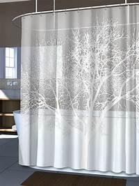 white shower curtain NEW Pearl White Home Tree Vinyl Shower Curtain Modern ...