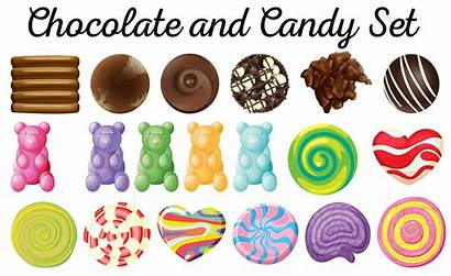 Candy Chocolate Different Vector Illustration Halloween Clipart