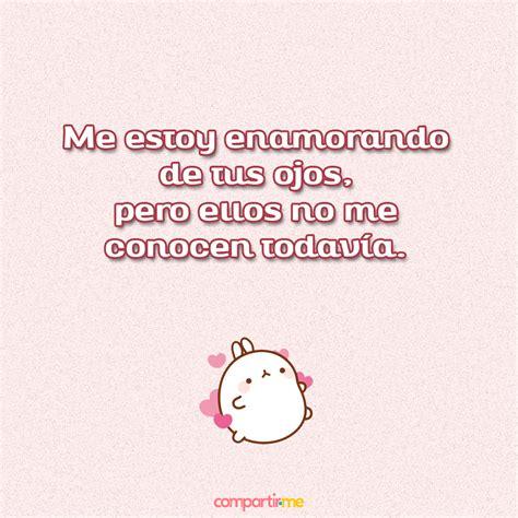 Frases de amor cortas con imágenes de conejitos kawaii con