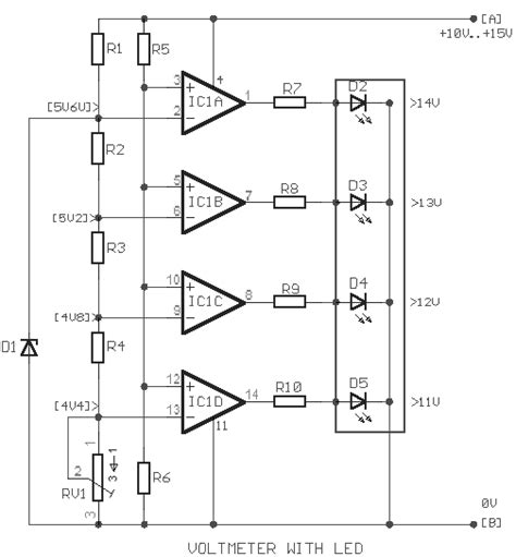 Simple Car Battery Voltage Monitor Circuit Electronic
