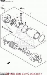 Suzuki Lt-a500f Vinson 4wd 2003  K3  Usa  E03  Lta500f Lt A500f Starting Motor