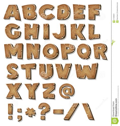 wooden alphabet letters comic wood alphabet stock illustration illustration of