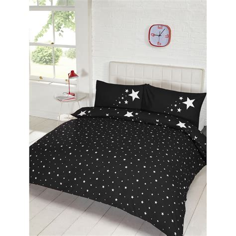 And Black Duvet Set by Glow In The Duvet Set Black Bedding