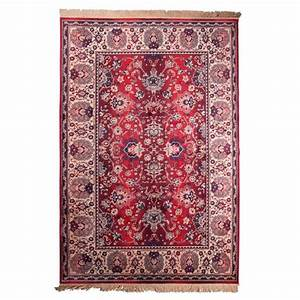 Tapis persan rouge old bid style oriental par drawer for Tapis persan avec canapé 3 places lit