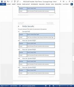 Frequently Asked Questions Templates  Ms Word   U2013 Templates