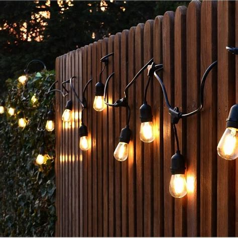 ft socket outdoor white patio string light cord