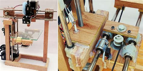Diy Repstrap 3d Printer Uses Wood And Glue As Its Primary