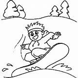 Snowboarding Coloring Sheet Sports Freecoloringsheets sketch template