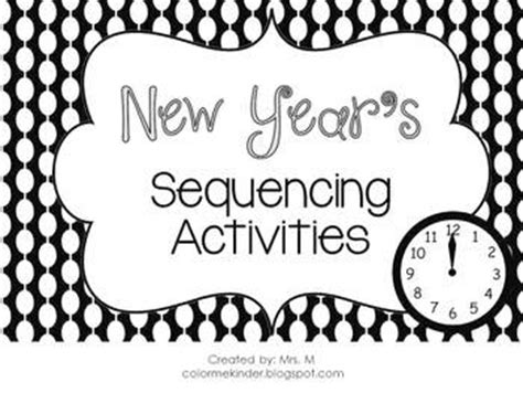 103 best new years preschool theme images on 731 | 105af20dc4dba9057ef5e4453337a150 sequencing activities class activities