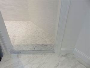 september is a good month for tackling big projects With marble threshold bathroom