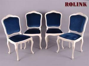 Shabby Chic Stühle : 4 st hle warrings chippendale schleiflack antik weiss shabby chic barock rokoko ebay ~ Orissabook.com Haus und Dekorationen