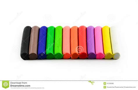 color of clay color sticks of modeling clay on white stock image image
