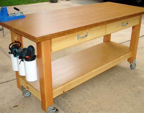 kitchen island plans free white rolling workbench with quot drill holders quot diy